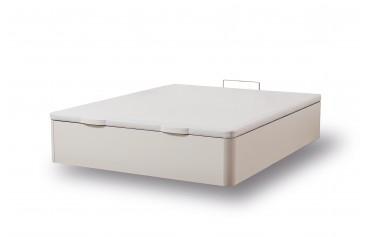 WOODEN STORAGE BED WHITE 90X190