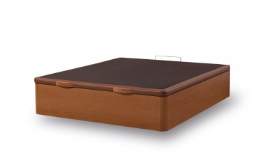 WOODEN STORAGE BED CHERRY 90X190