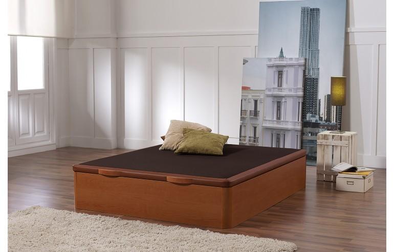 WOODEN STORAGE BED CHERRY 90X190