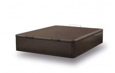 WOODEN STORAGE BED WENGUE 90X190